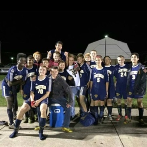 Seniors Zach Coon and Lawrence Brumbaugh played their final high school soccer match on Oct. 21. The team celebrated the season at a banquet on Nov. 4.