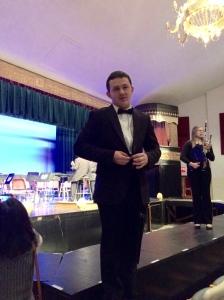 Jesse Stewart after the winter concert at General McLane High School on Dec .2.
