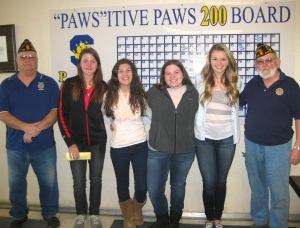 (From left to right) Dan Cole, Anna Swartout, Hannah Crum, Sydney Kightlinger, Lexie Erdos, Don Powell