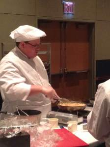 Mitchell Loyd prepares a sauce at the ProStart competition.