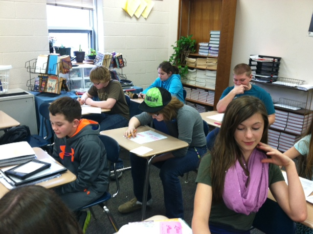 Students prepare for PSSA tests which will be given April 14-23.