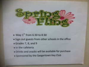 Spring Fling poster. (photo contributed)