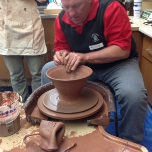 Fred Corle uses the pottery wheel. (Photo contributed)