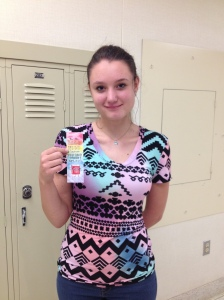 Sophmore Emily Loccisano designed Teen Read Week bookmark.