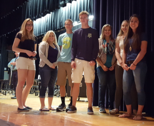 The first Academic Letter recipients were recognized on Sept. 2.