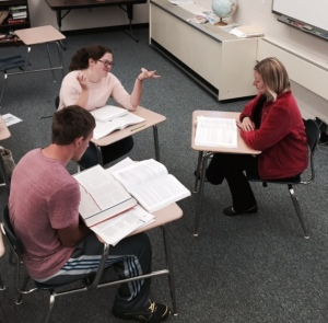 Super small AP World History class meets everyday during seventh period.
