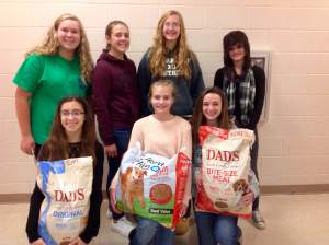 Junior high class council raised money to assist the Townville Kennel.