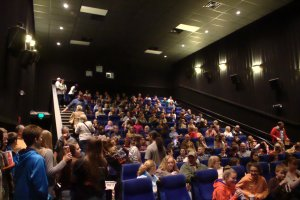 """Over 300 hundred people came to watch senior Jacob Perrett's movie """"Planet of Dead"""""""