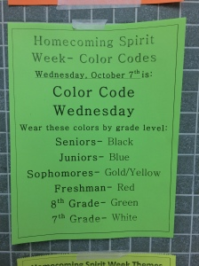 Student council encourages all students and staff to participate in Spirit Week.