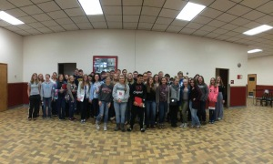 STEM students gather together at Edinboro University for a group photo.
