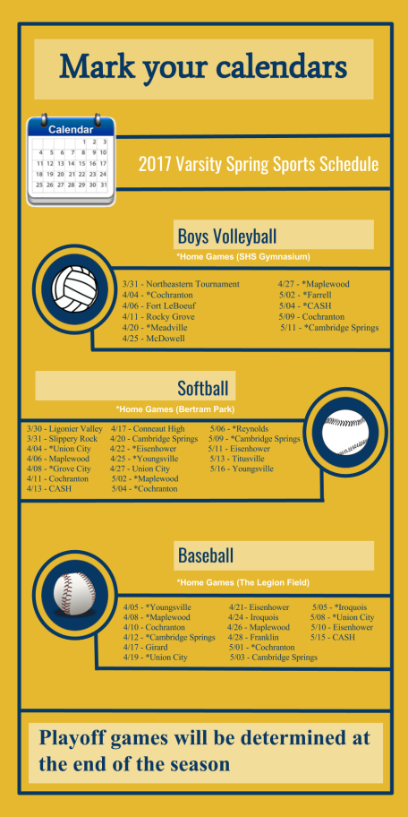 Spring Sports Schedule -Ford