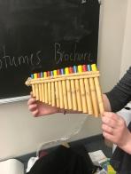 A flute by senior Maddie Stevens